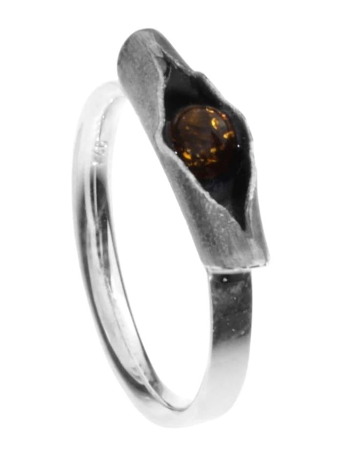 OSTSEE-SCHMUCK Ring - Hedi-Sarah Vicenca - Silber 925/000 - Bernstein, silber