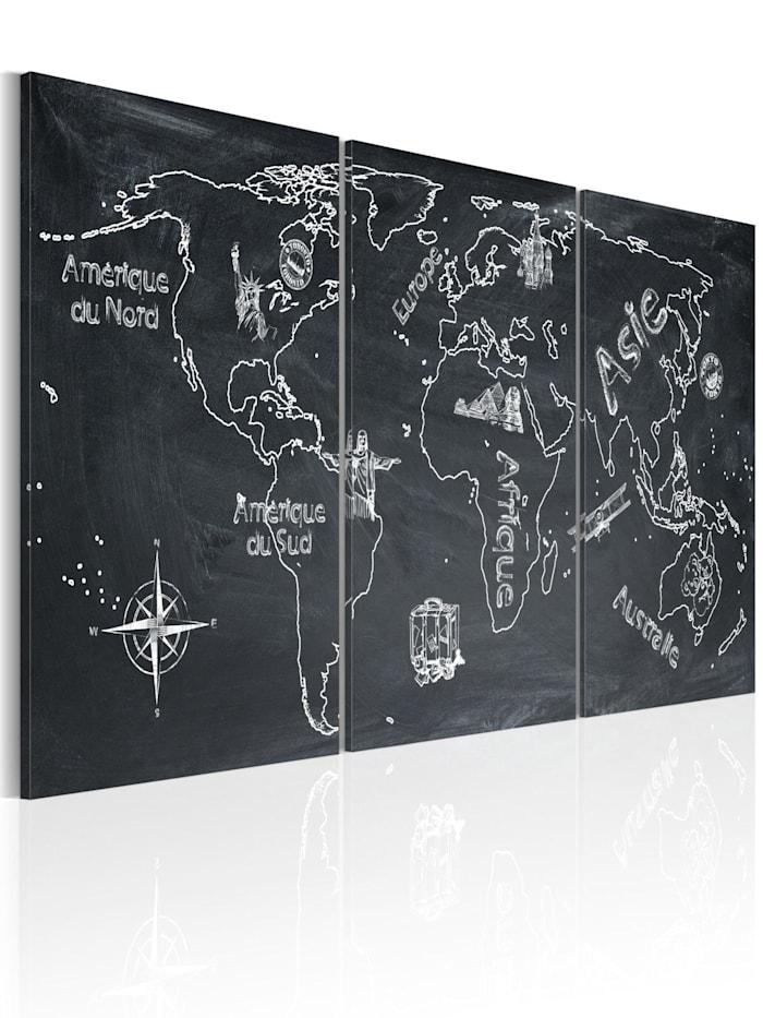 artgeist Wandbild Neugieriger Reisender (Frankreich), Grau,Weiß