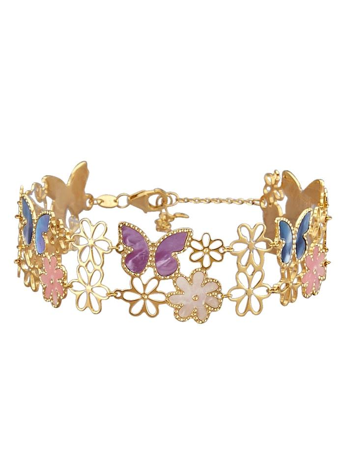 Diemer Perle Armband mit Perlmutt, Multicolor