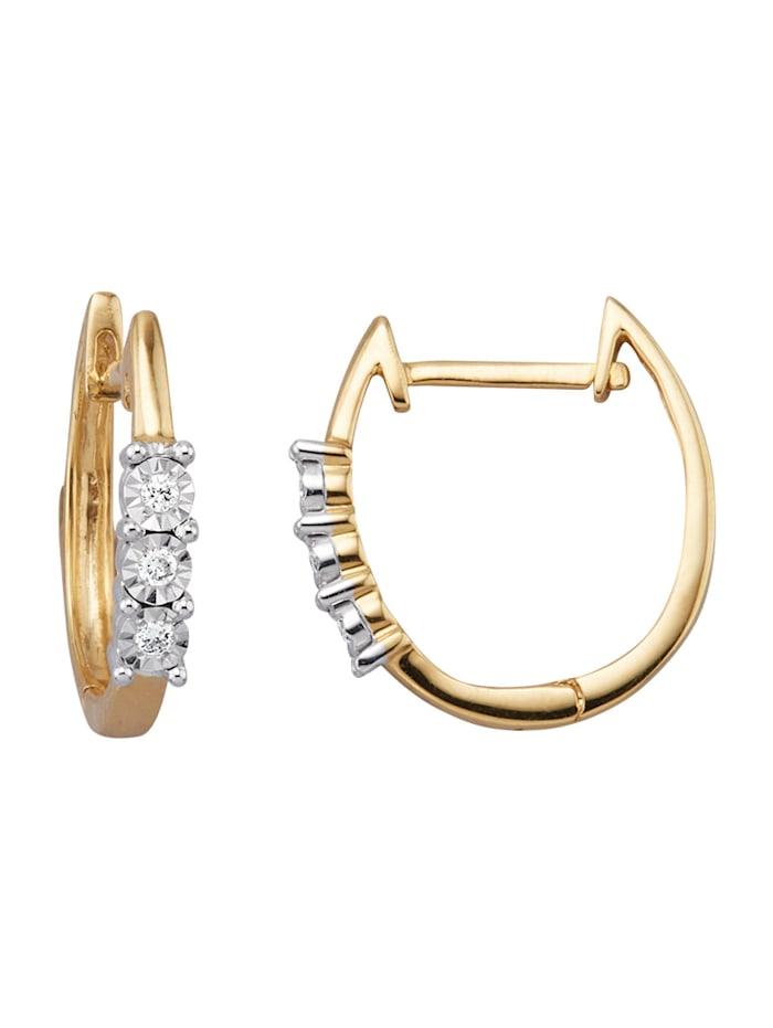 Amara Diamant Klappcreolen mit Diamanten, Weiß