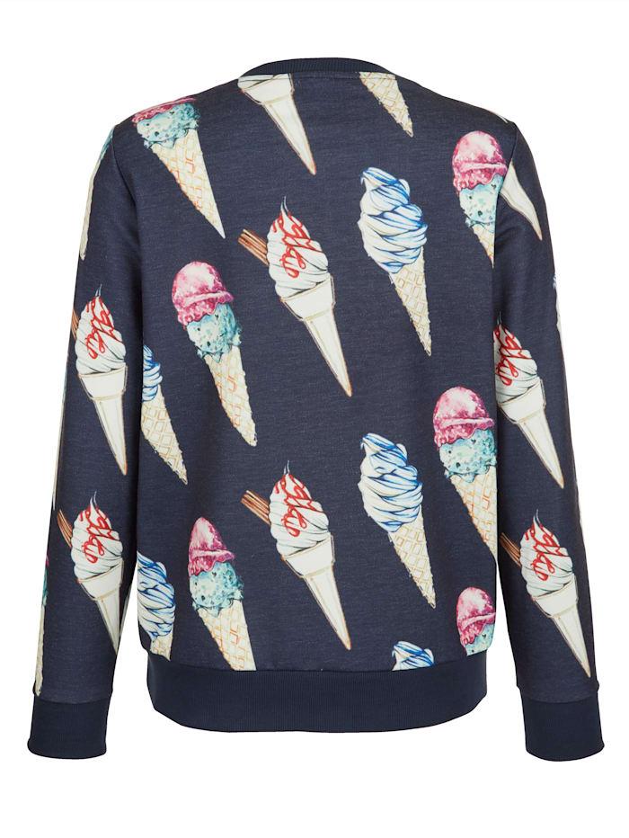 Sweatshirt med läckert mönster