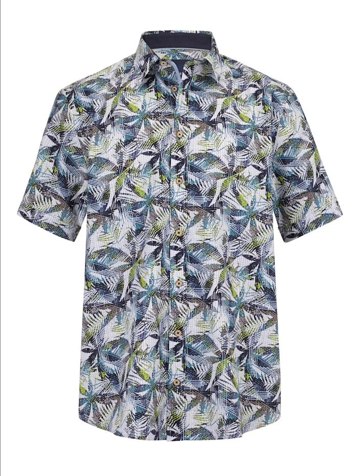 BABISTA Overhemd met trendy print, Groen/Wit/Blauw