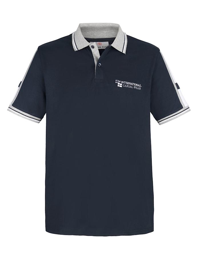Boston Park Poloshirt met contrastkleurige details, Marine