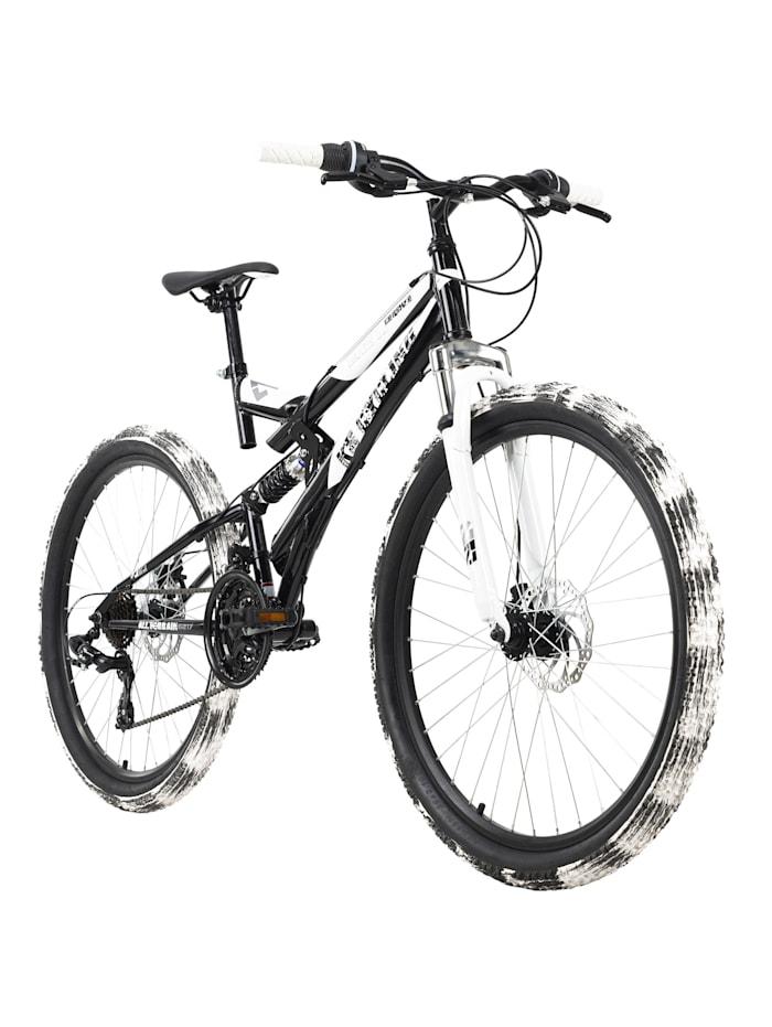 KS Cycling Mountainbike Fully 26 Zoll Crusher, schwarz-weiß