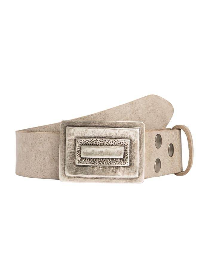 RETTUNGSRING by Showroom 019° Echtledergürtel mit austauschbarer Rechteck-Schließe, ash