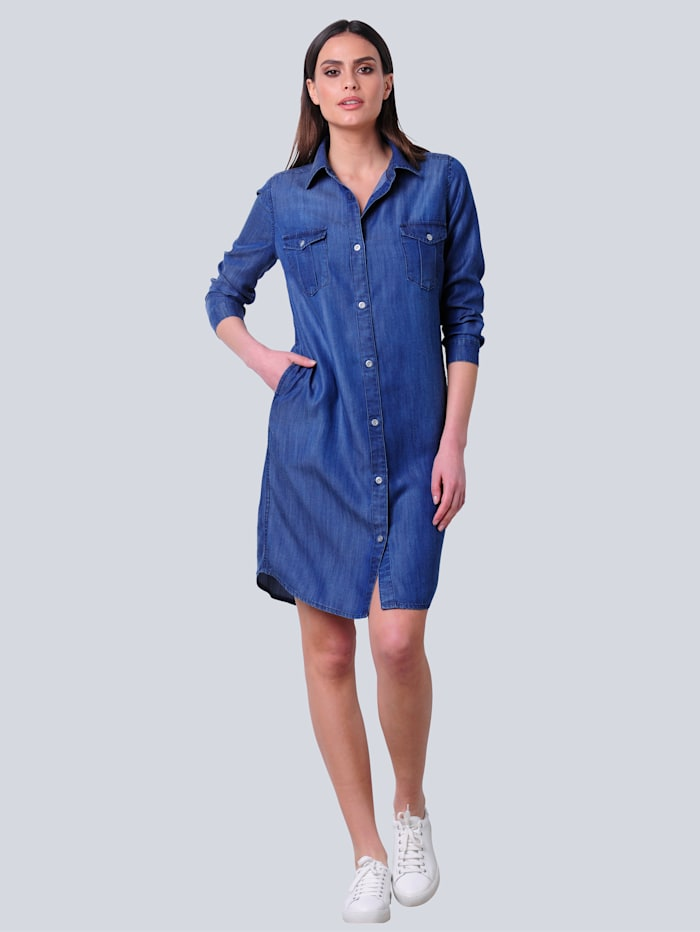 Hemdblusenkleid in Jeansoptik aus trageangenehmer Lyocellware