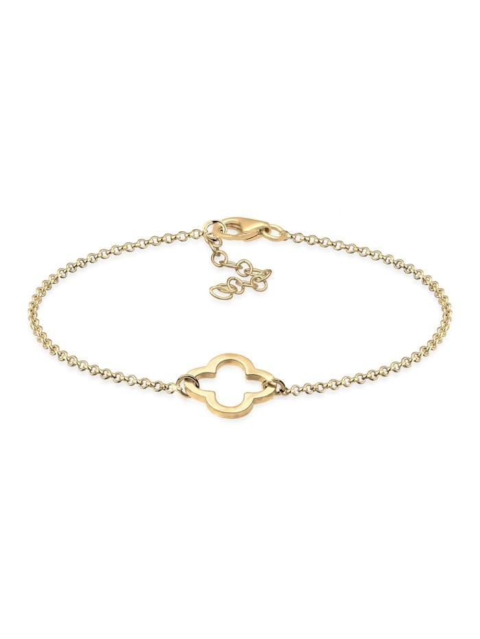 Elli Armband Kleeblatt Symbol Glück Trend Talisman 925 Silber, Gold