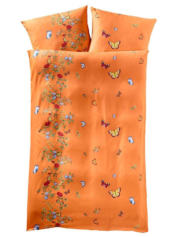 Webschatz 2-delige set bedlinnen Weide, Terracotta
