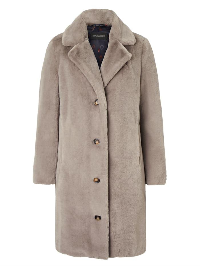 OAKWOOD Mantel aus Kunstfell, Beige