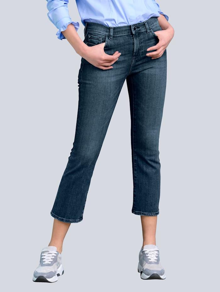 Alba Moda Jeans mit leicht ausgestelltem Bein, Blau
