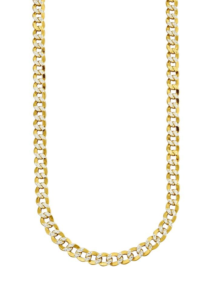 Halsband i pansarlänk av guldfärgat silver 925, Guldfärgad