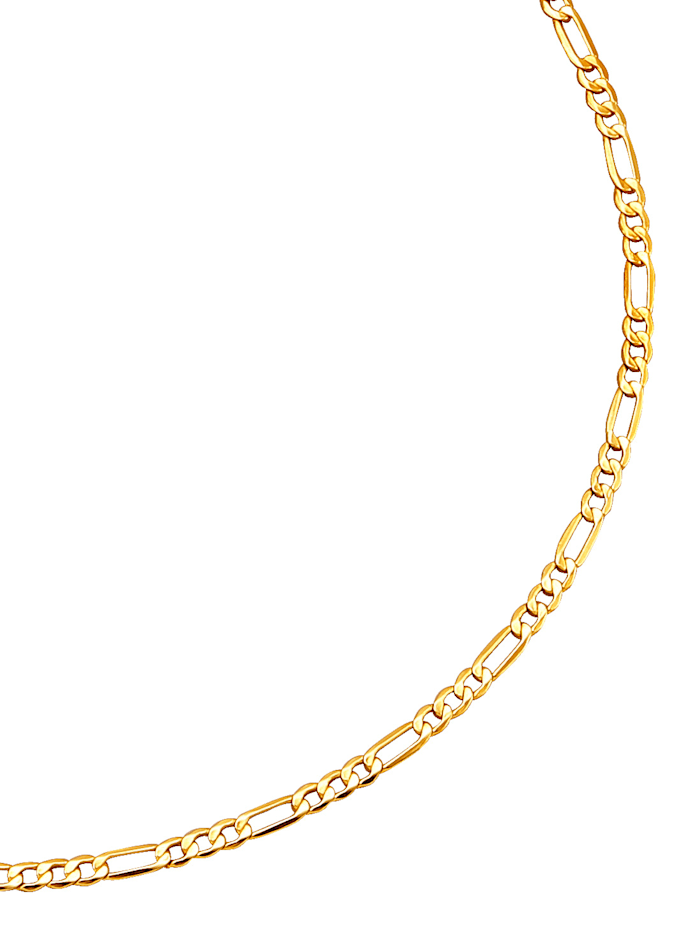 Chaîne maille Figaro or jaune, Coloris or jaune