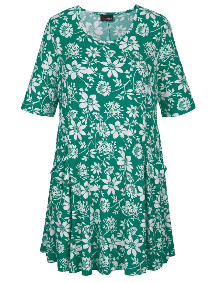 Longshirt mit floralem Alloverprint