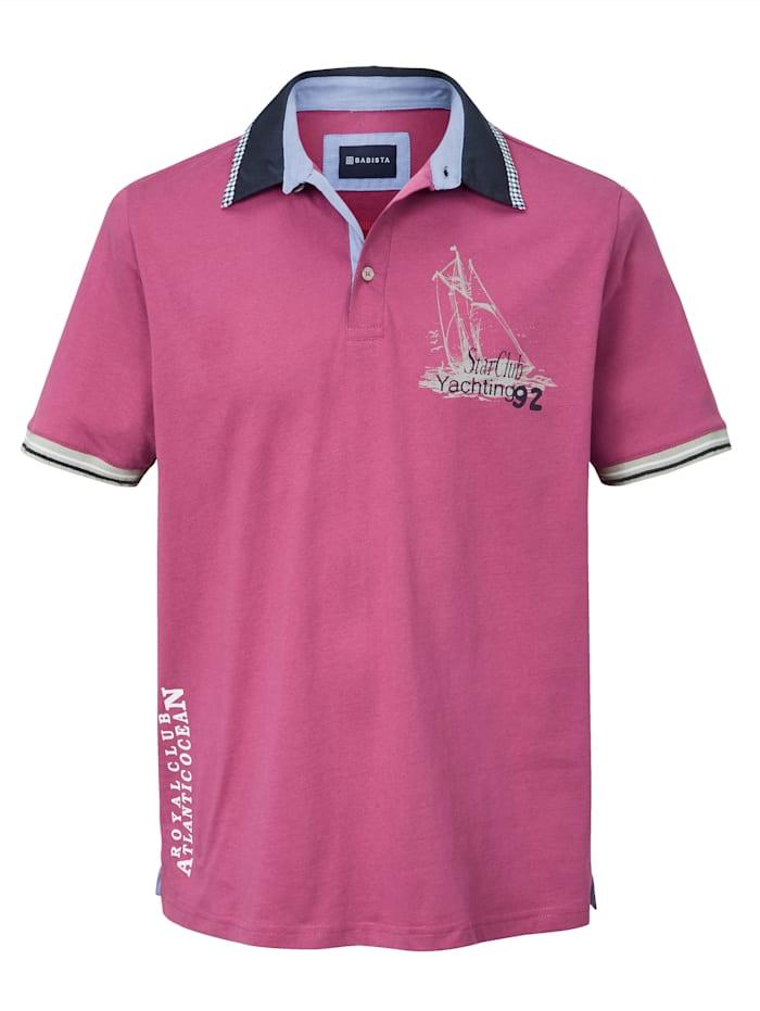 BABISTA Poloshirt in maritieme stijl, Berry