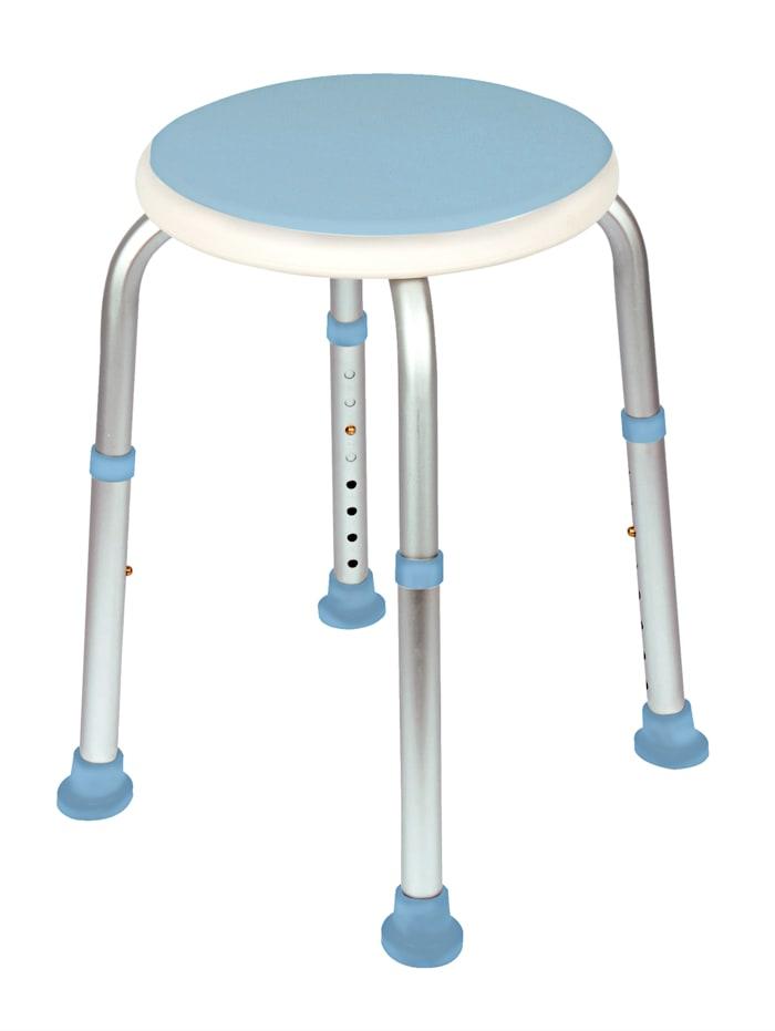 Židle do sprchy otoční, světlá modrá