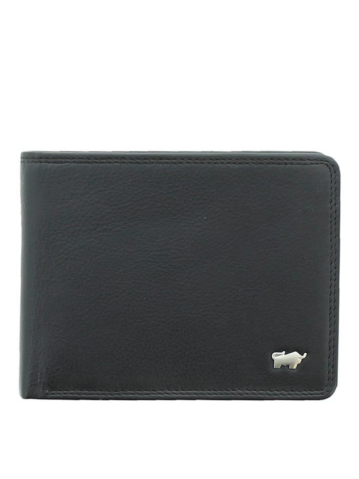 Braun Büffel Lederbörse GOLF 2.0 in schlichtem Design, schwarz