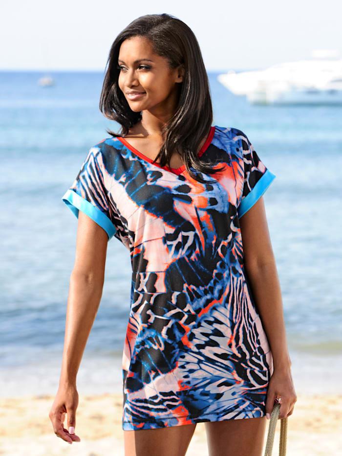 Strandshirt mit farbigen Blenden