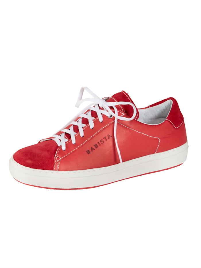 BABISTA Sneaker aus weichem Leder, Rot