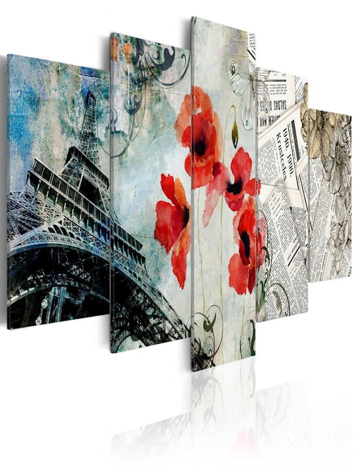 artgeist Wandbild Memories of Paris, Schwarz,Blau,Grau,Rot