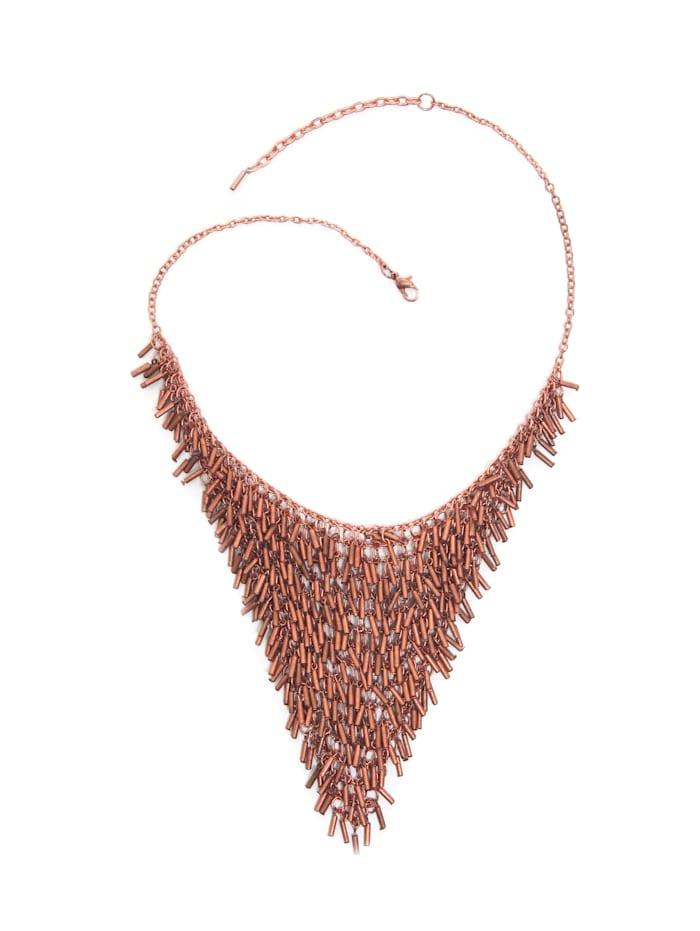 Collezione Alessandro Kurze Kette Elke in dreiecksform mit kleinen Perlen, rosa