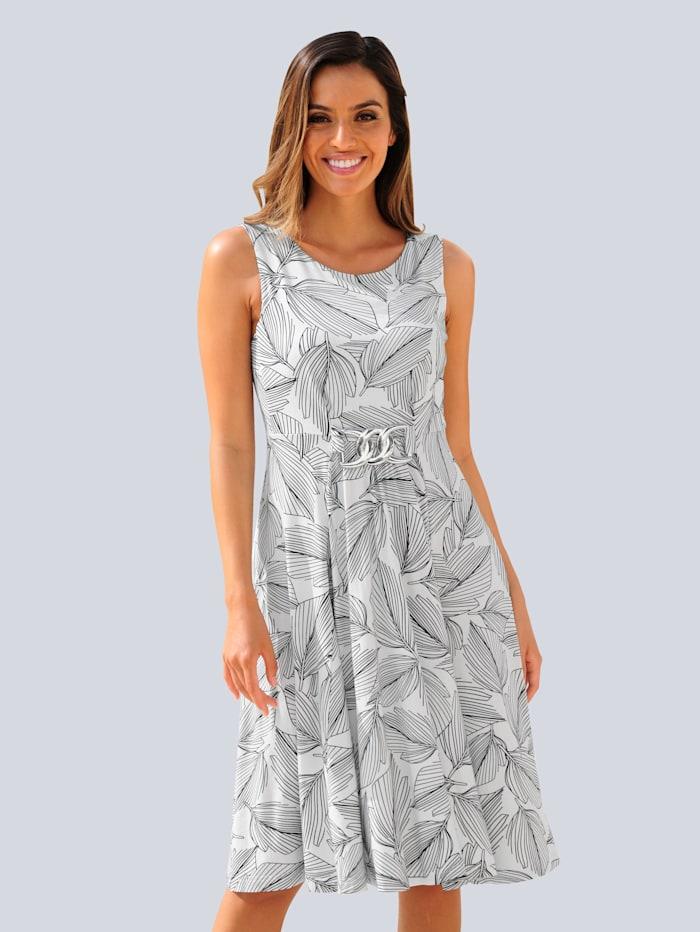 Alba Moda Strandkleid mit silbernem Zierteil, Weiß