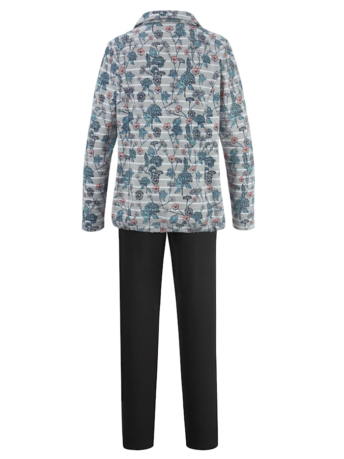 Loungewear set with modern drawstring hem