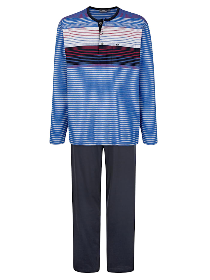 Pyjama en matière thermorégulatrice, Marine/Bleu roi