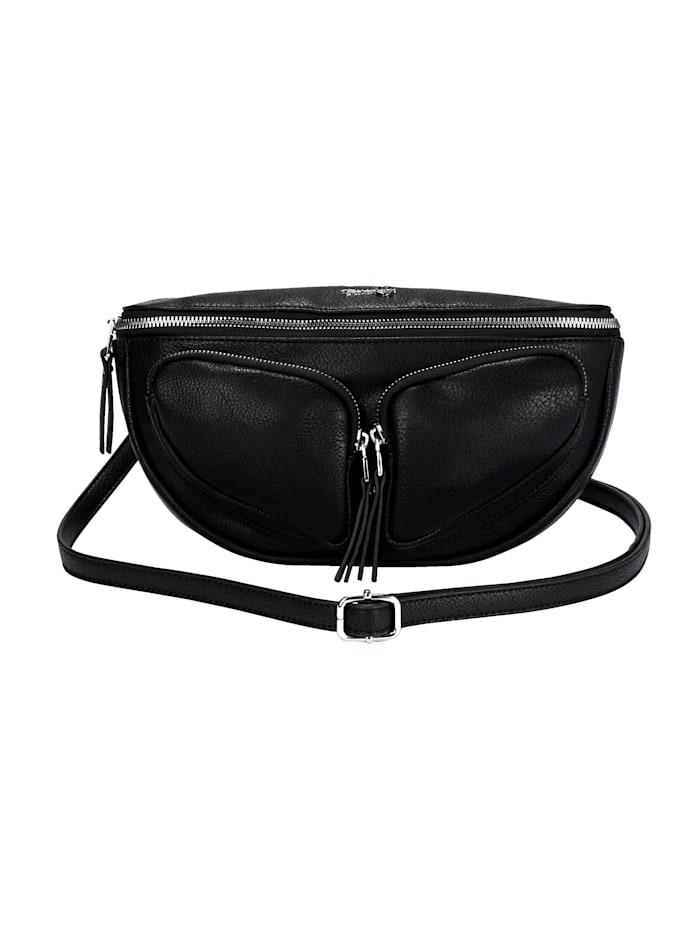 Taschenherz Heuptasje met 2 draagvarianten, Zwart