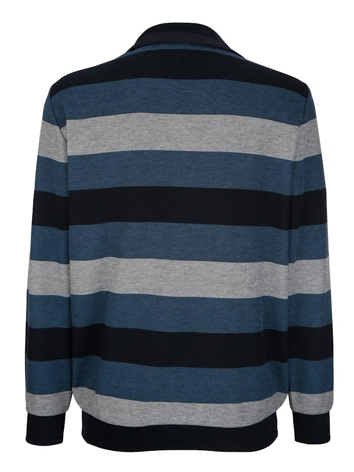 Sweatshirt mit Jacquardstreifenmuster