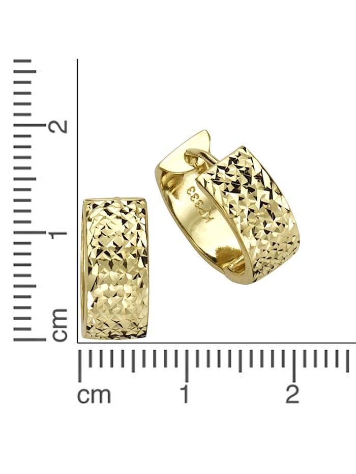 Creolen 333/- Gold 1,5cm Diamantiert 333/- Gold