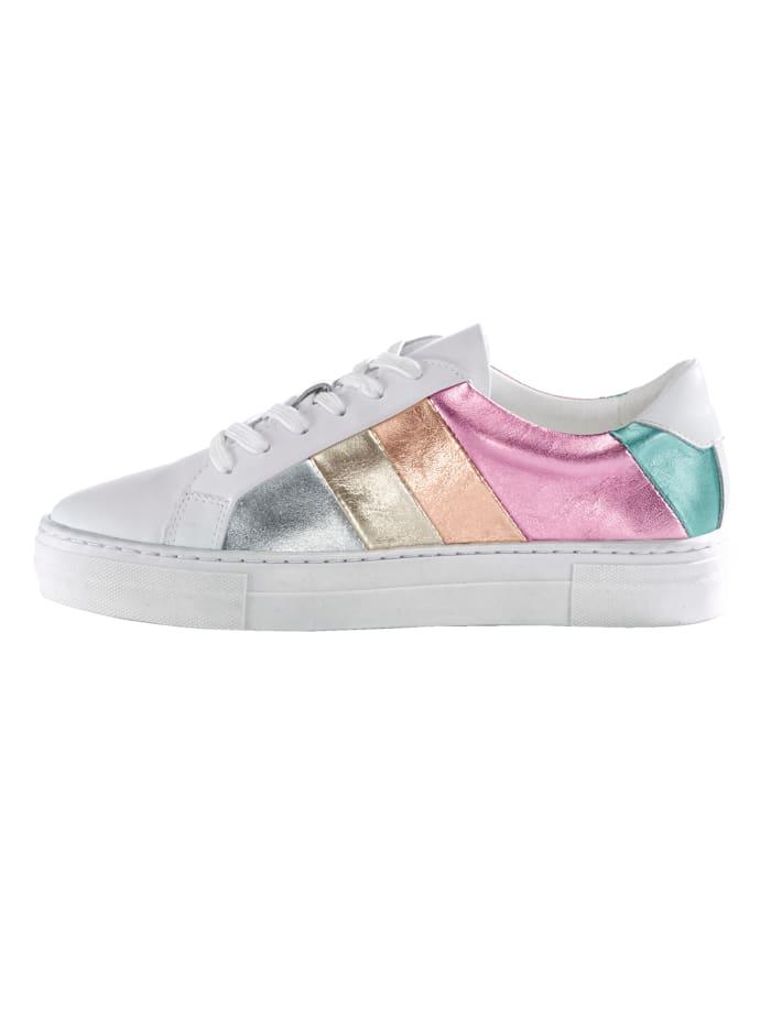Sneaker in multicolor metallic look