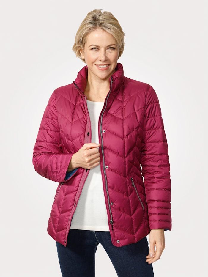MONA Gewatteerde jas in donslook, Cyclaam