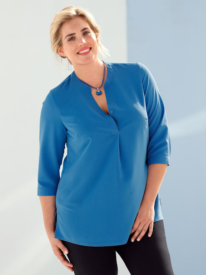 m. collection Bluse in Schlupfform, Royalblau
