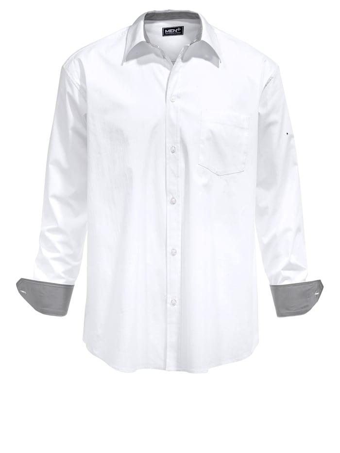 Men Plus Chemise de coupe spéciale, Blanc