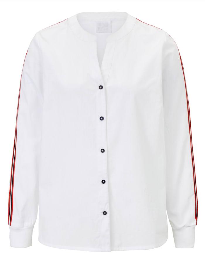 REKEN MAAR Bluse, Weiß