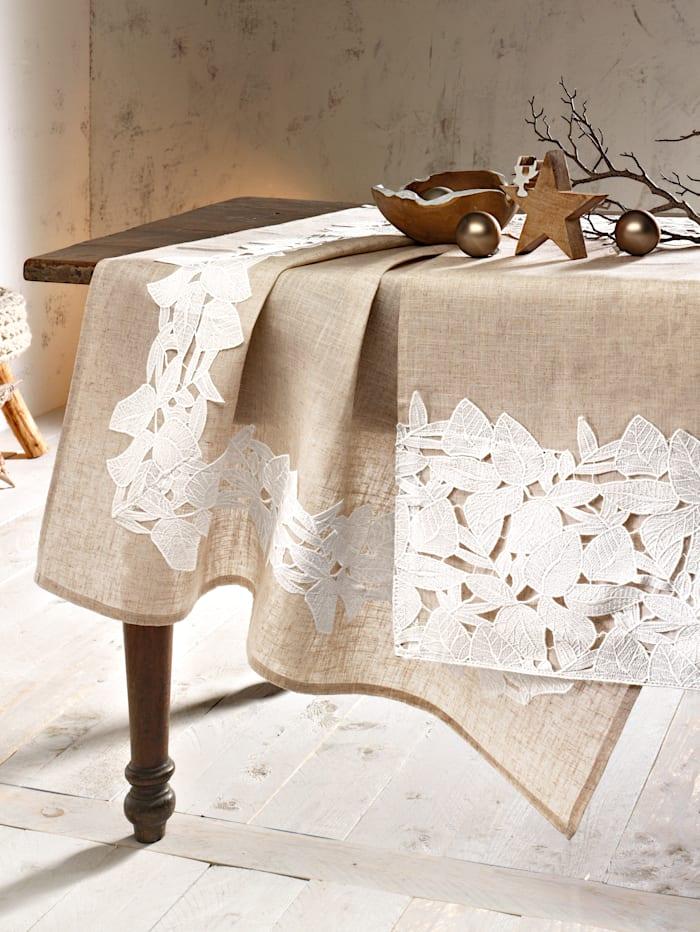 Webschatz Tischwäsche 'Chana', natur weiß