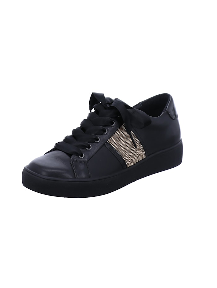 Tizian Tizian Damen-Sneaker Locarno 05, schwarz-gold, schwarz-gold