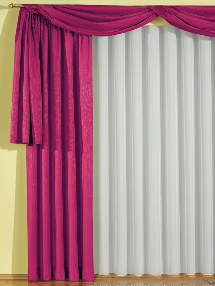 Wirth Garnitur mit Kräuselband, Tornby, pink
