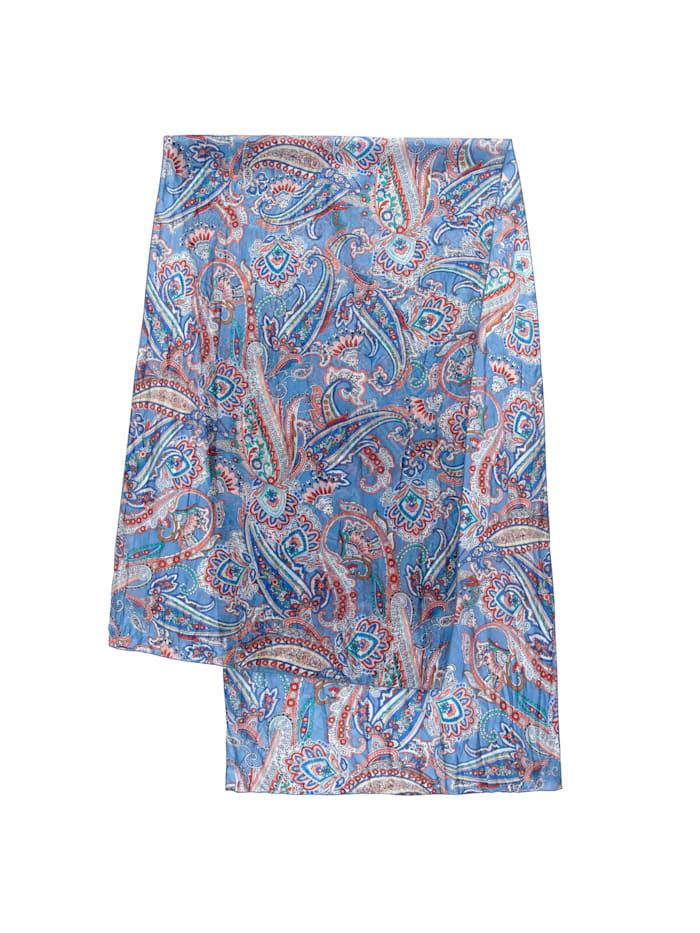Codello Crinkle-Schal aus reiner Seide mit Paisley-Dessin, jeans blue