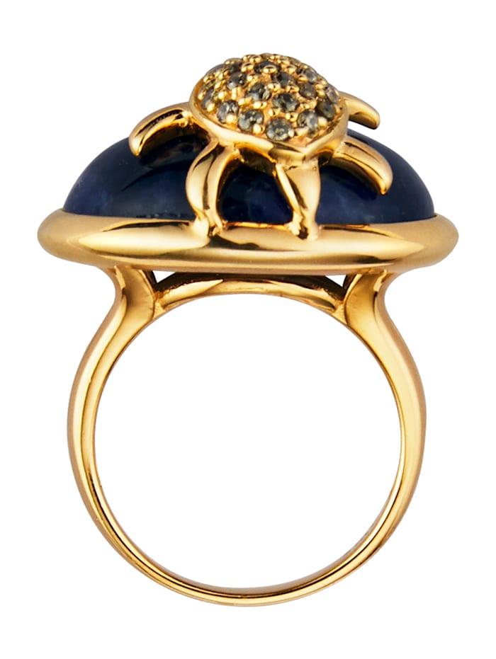 Ring Schildpad met sodaliet