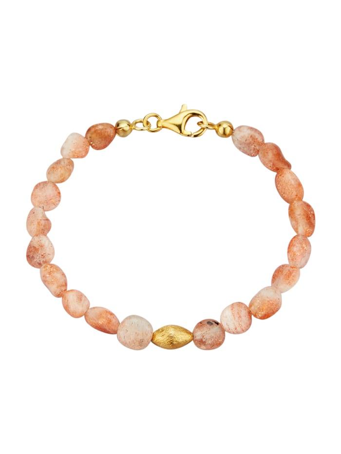 Diemer Farbstein Armband van zonnesteen, Oranje