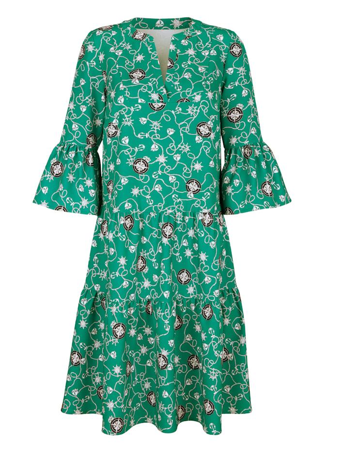 Kleid mit grafischem Muster allover