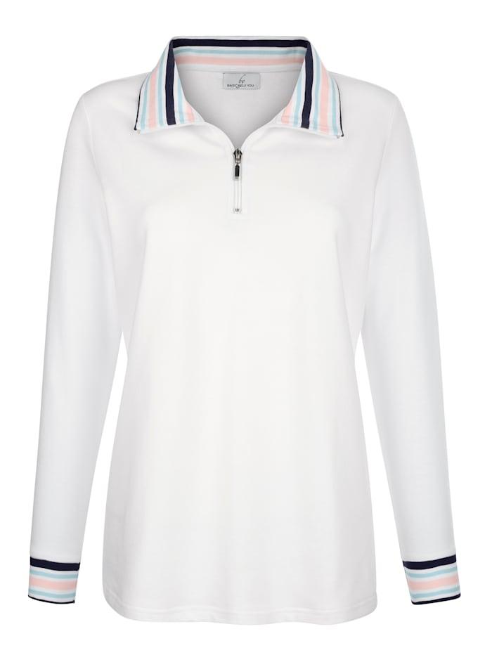 Sweatshirt met gestreepte details