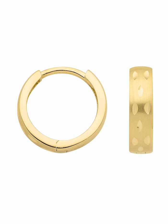 1001 Diamonds 1001 Diamonds Damen Goldschmuck 333 Gold Ohrringe / Creolen, gold