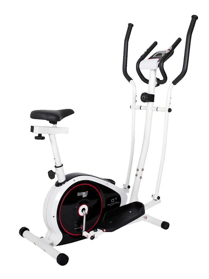 Christopeit Vélo de fitness et de cross CT 4, Blanc/noir