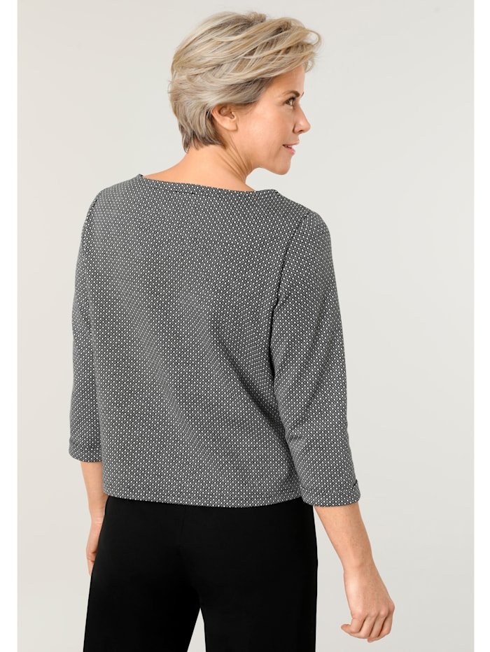 Sweat-shirt à jacquard minimaliste