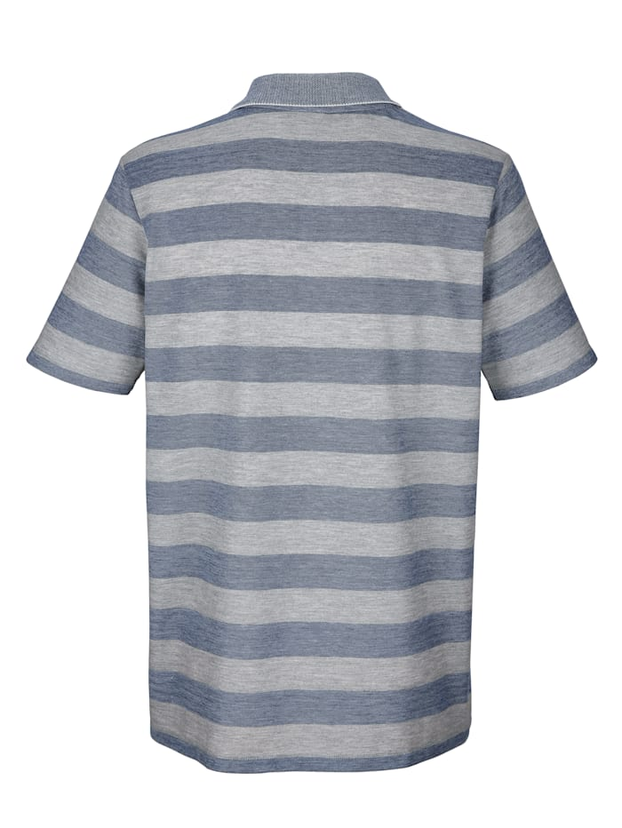 Poloshirt met ingebreid streeppatroon