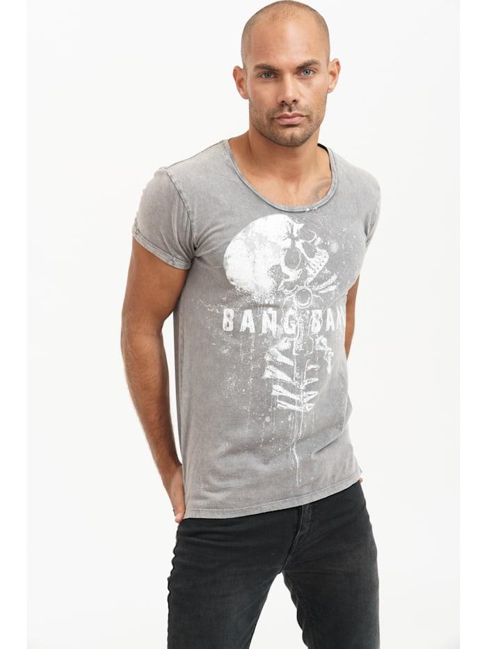 trueprodigy T-Shirt Clay mit coolem Totenkopf-Print, 5203-Darkgrey