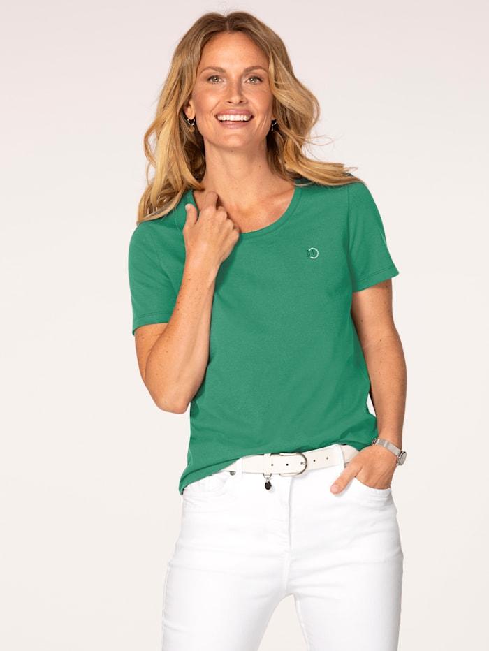 MONA Shirt aus Cotton made in Africa, Grün