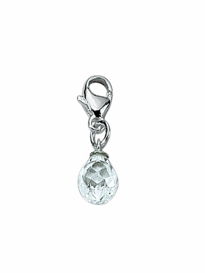 1001 Diamonds 1001 Diamonds Damen Silberschmuck 925 Silber Charms Anhänger mit Zirkonia, silber